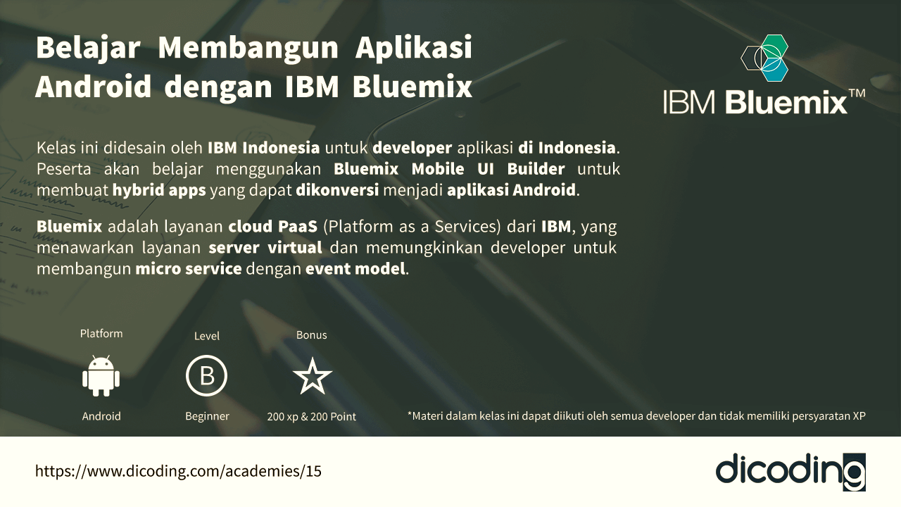Belajar Membangun Aplikasi Android dengan IBM Bluemix