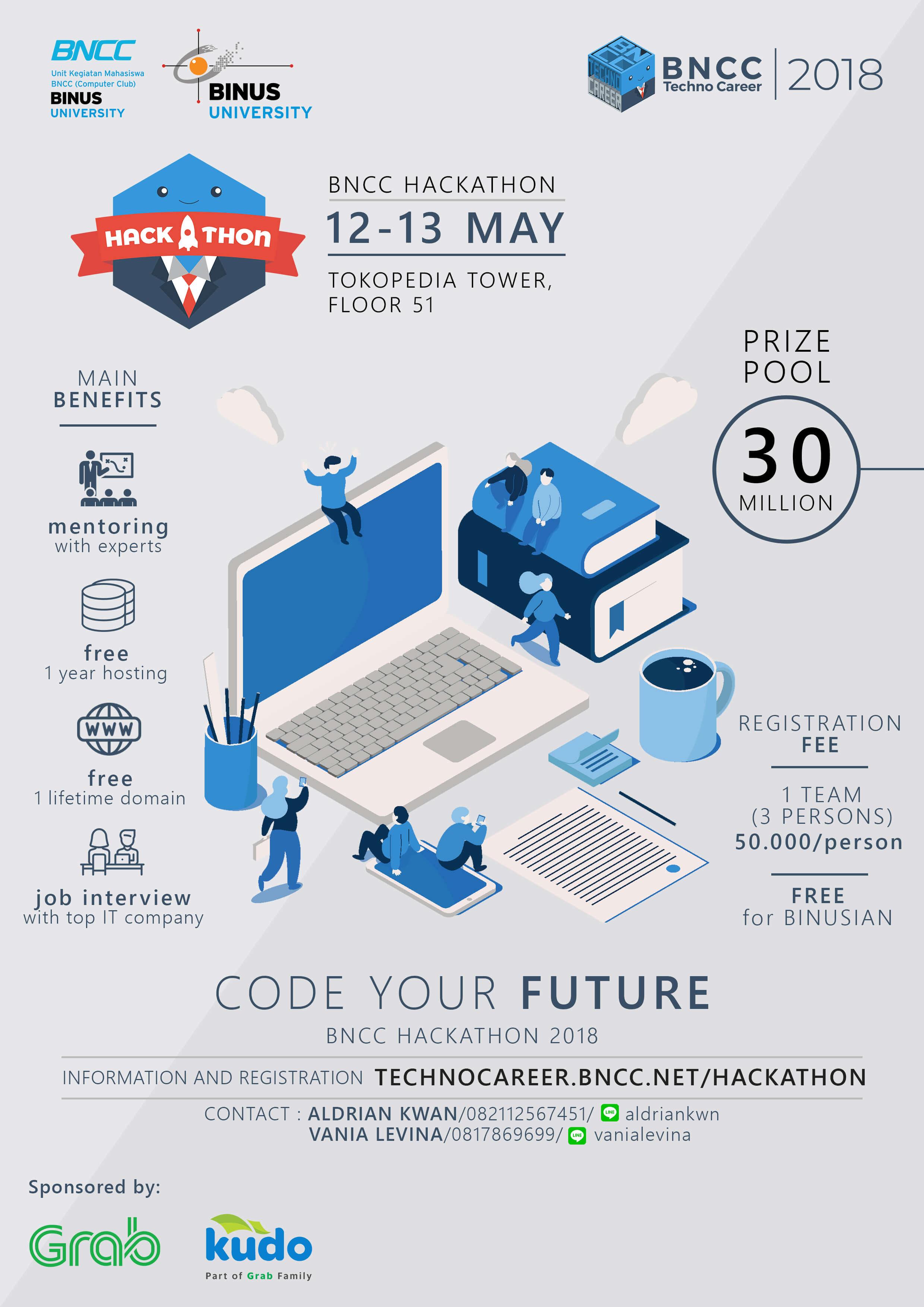 "BNCC Hackathon 2018 - ""Code Your Future"""