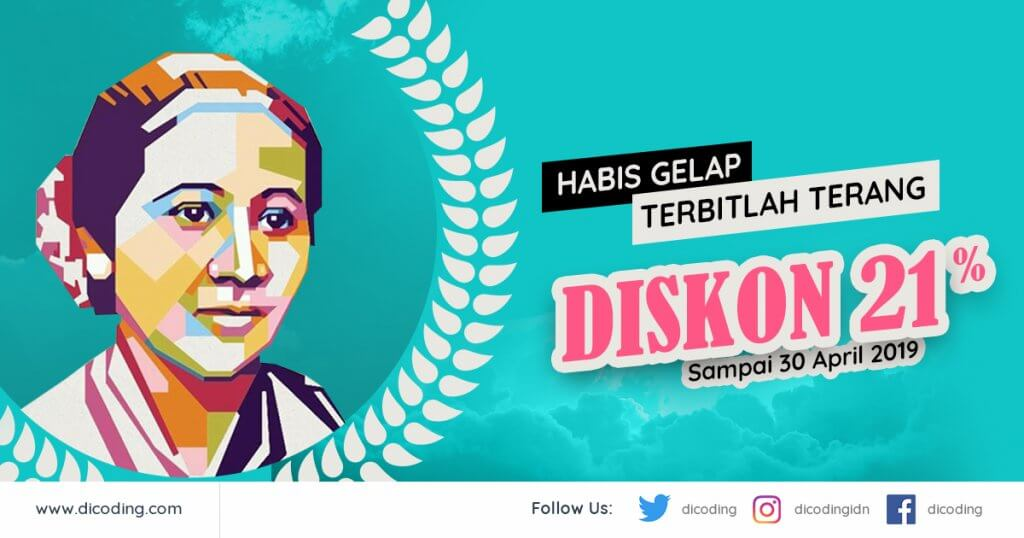 Promo Kartini Habis Gelap Terbitlah Terang Diskon 21%