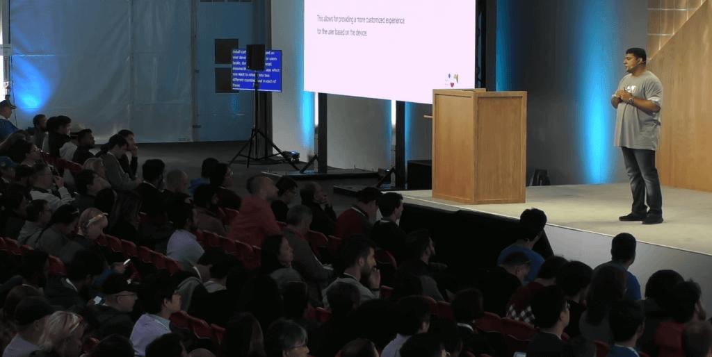 Amrit presentasi tentang teknis aplikasi Next Billion Users