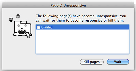 Page Unresponsive