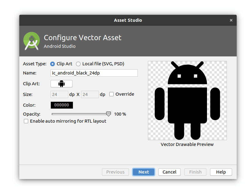 Vector Drawable Android