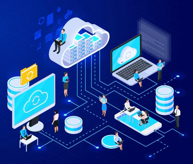 ilustrasi cloud store