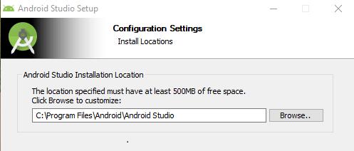 setup android studio