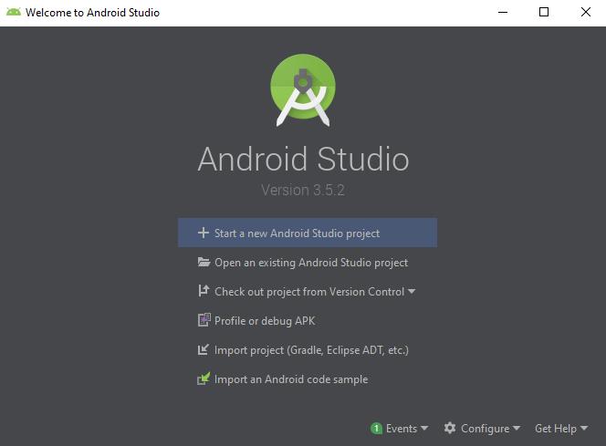 launch android studio