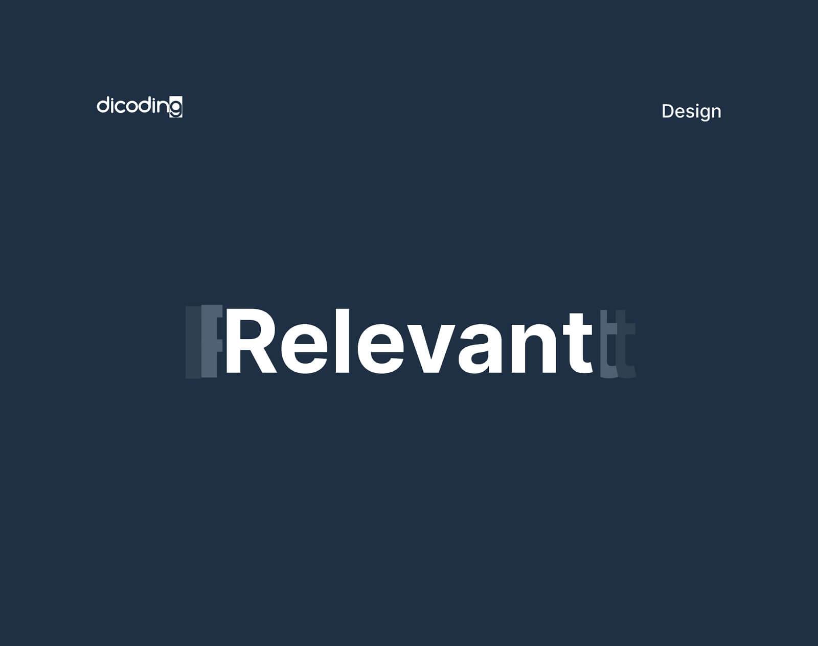 Design Principles-Relevant