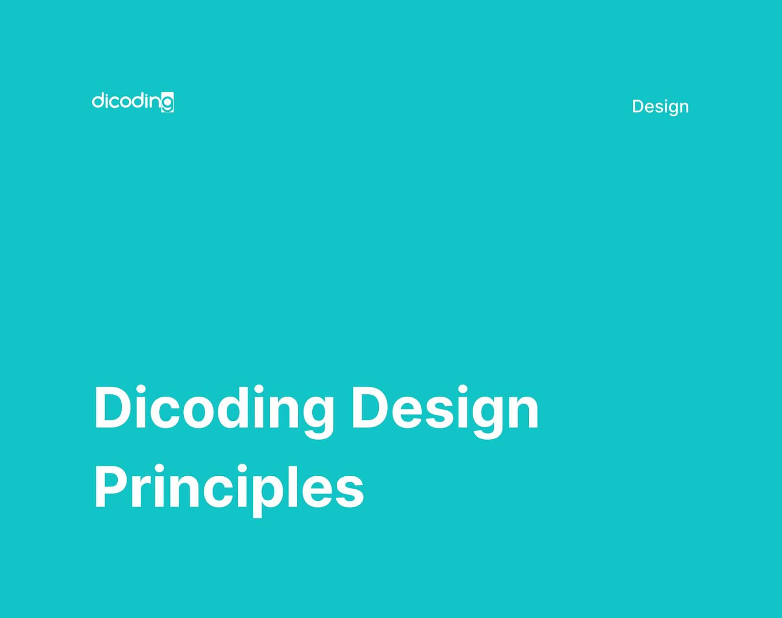 Dicoding Design Principles