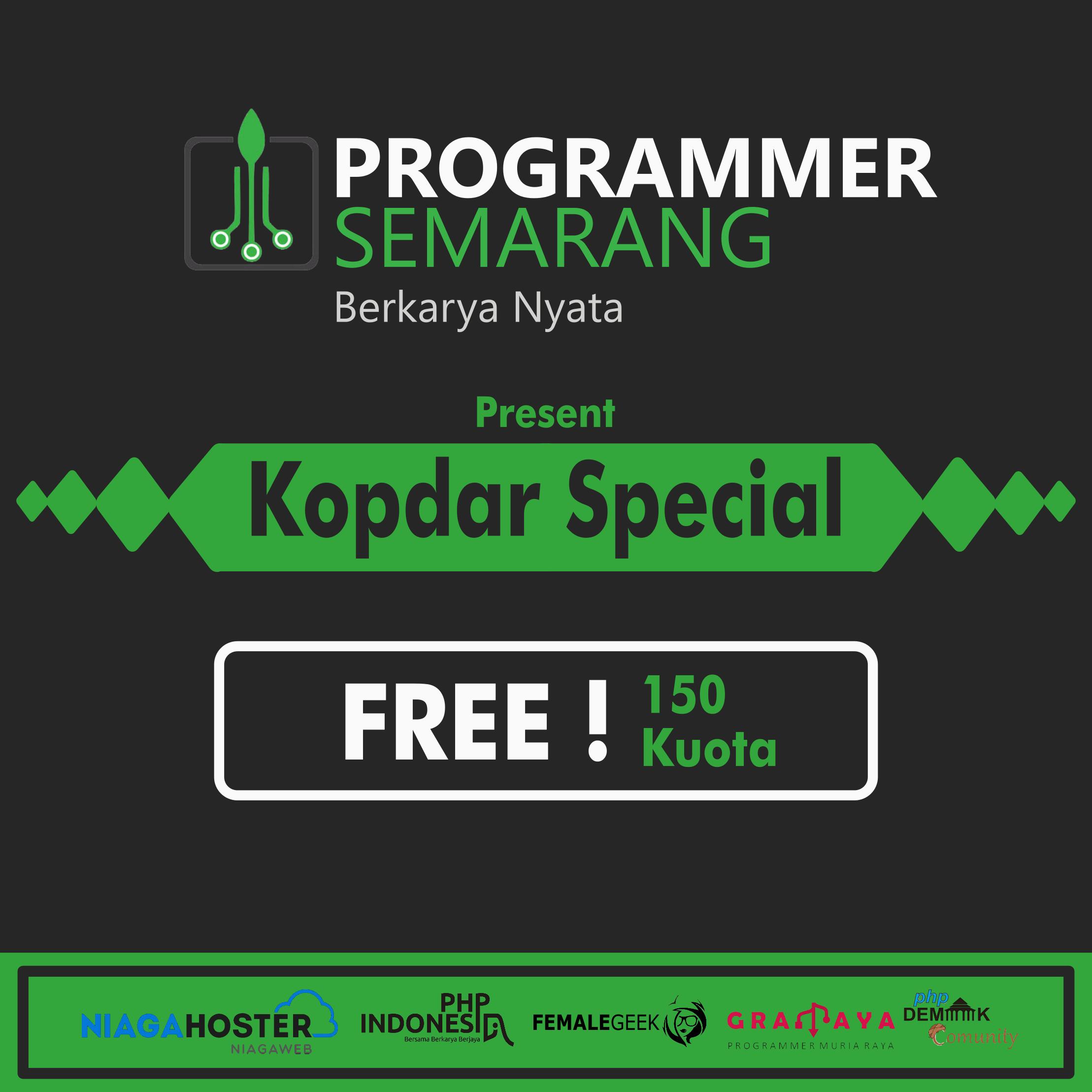 Meet Up Akbar Programmer Semarang & Sekitarnya
