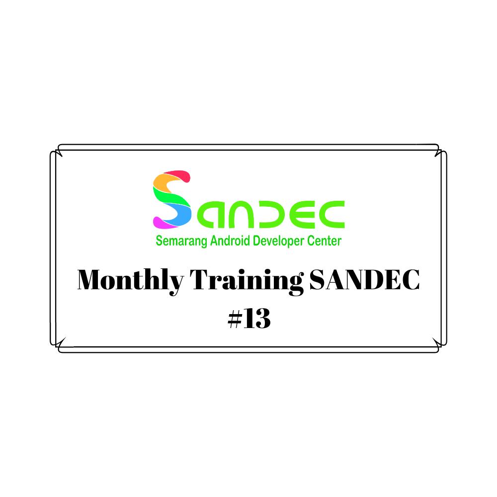 Monthly Training SANDEC #13