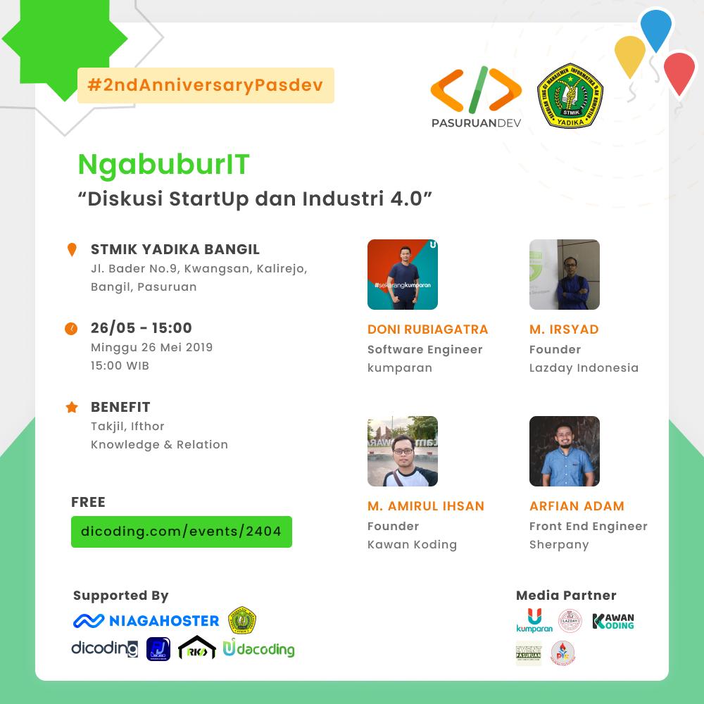 """NgabuburIT """"Diskusi Startup & Industri 4.0"""""""