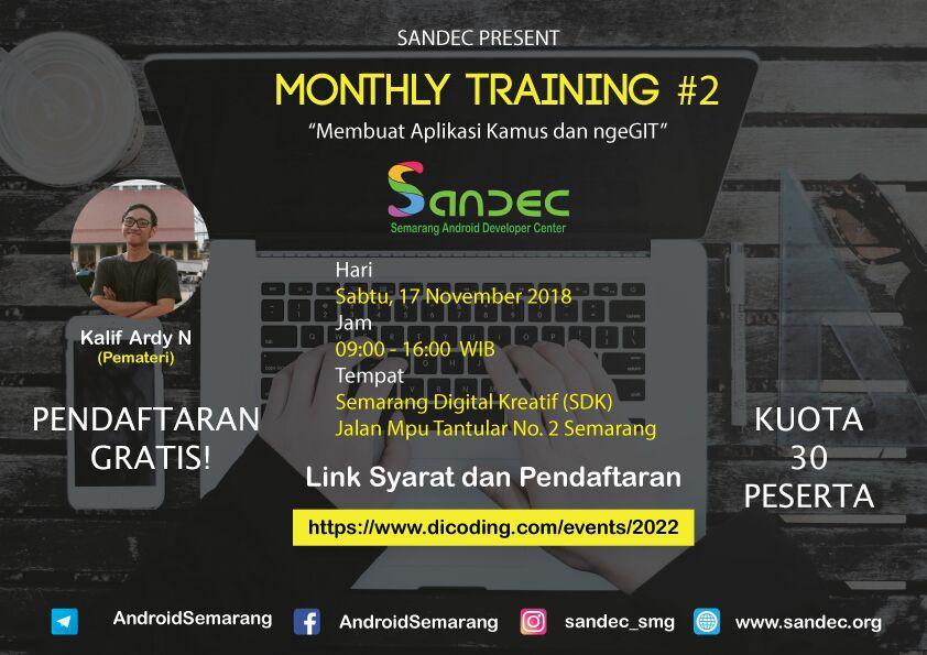 SANDEC Monthly Training #2