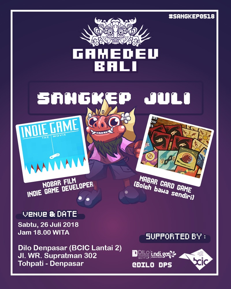 SANGKEP GameDev Bali Juli 2018