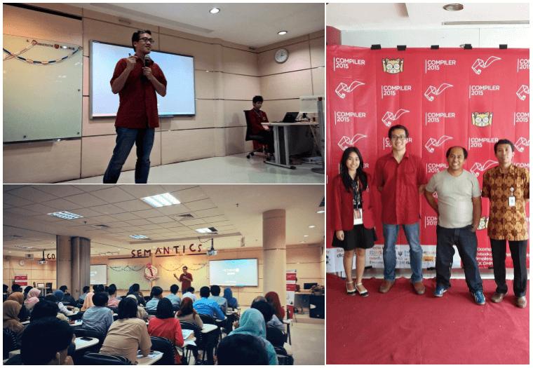 Narenda Wicaksono dan Firstman Marpaung dalam Event Semantics di Universitas Bakrie, 7 Maret 2015