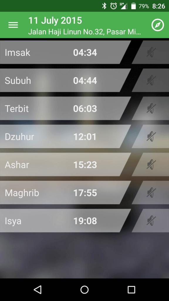 Screenshot Alarm Adzan Sholat dan Kiblat 1