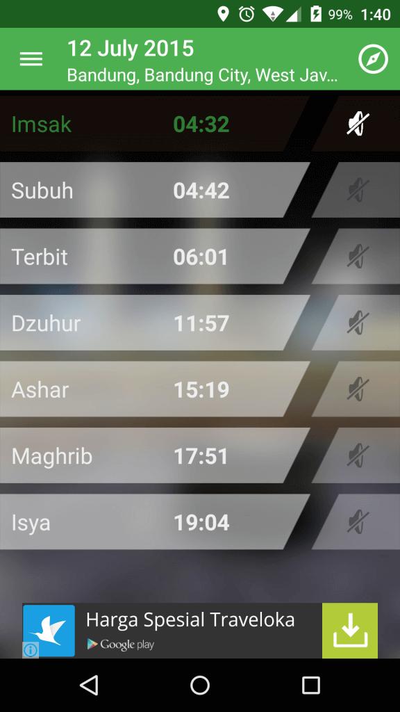 Screenshot Alarm Adzan Sholat dan Kiblat 3