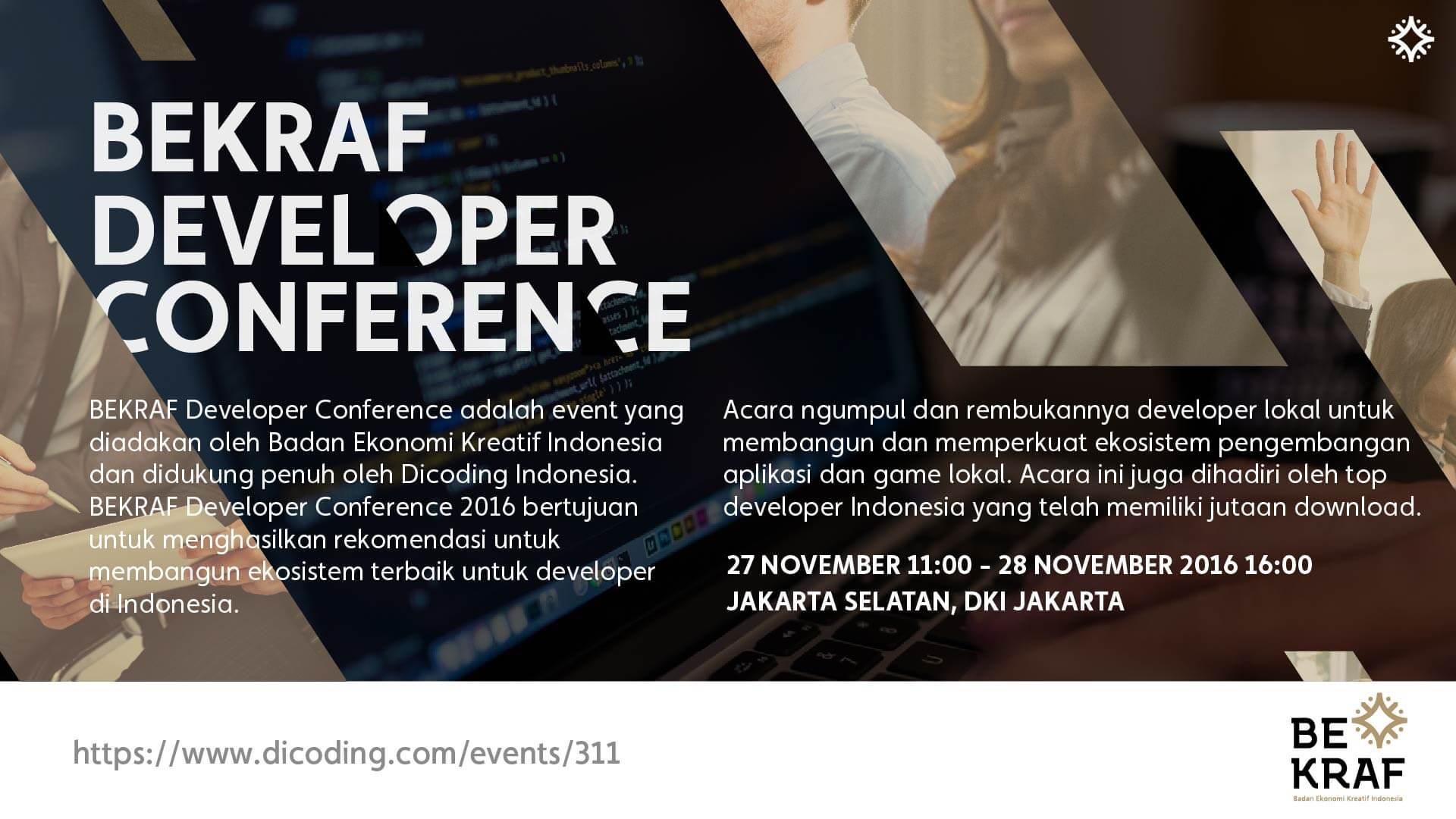 Bekraf Developer Conference 2016