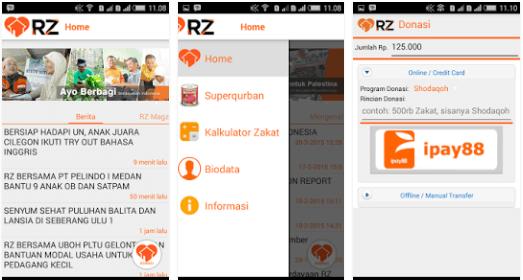 sosial, zakat, credit: Google Play Store - Rumah Zakat
