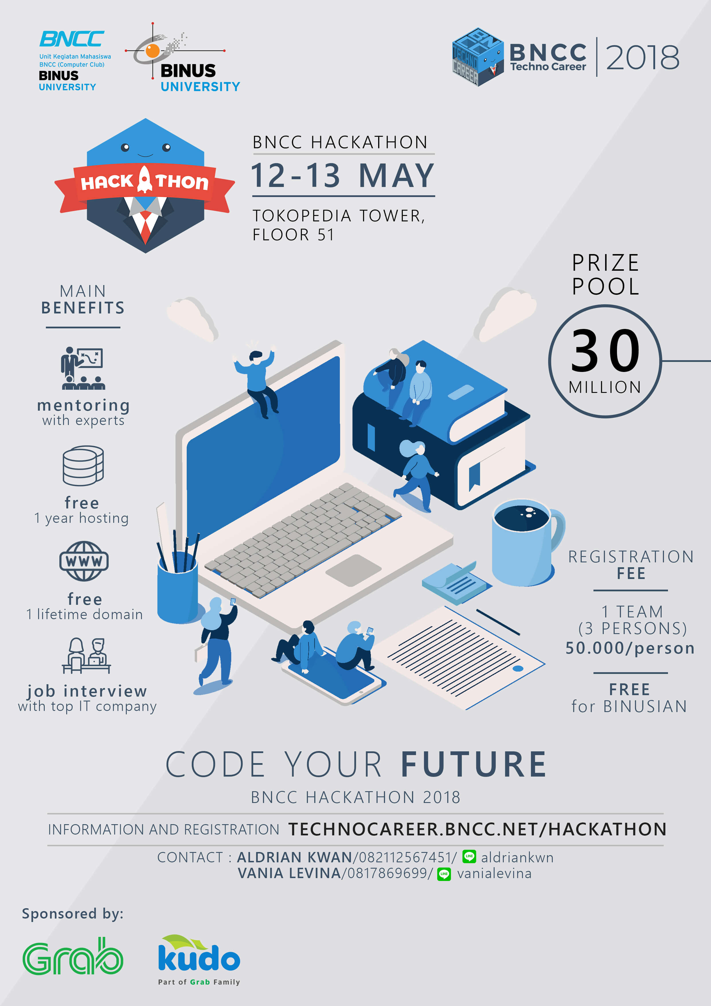 "BNCC Hackathon 2018 - ""Code Your Future"""