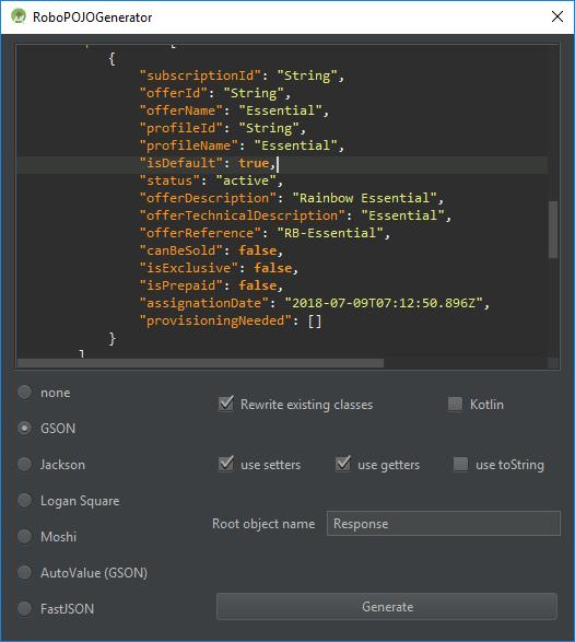 komponen model untuk belajar rainbow android