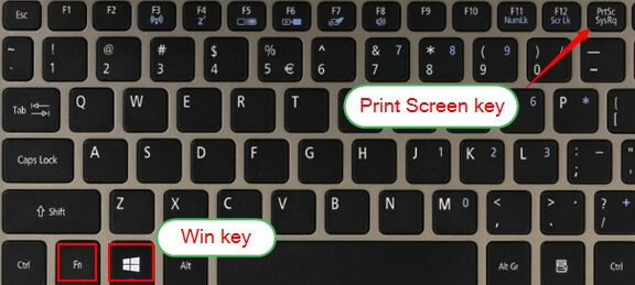 Print screen key and windows key on keyboard