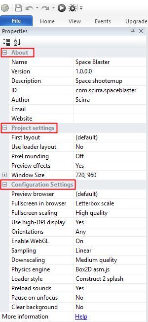 Setting Export Game Construct 2