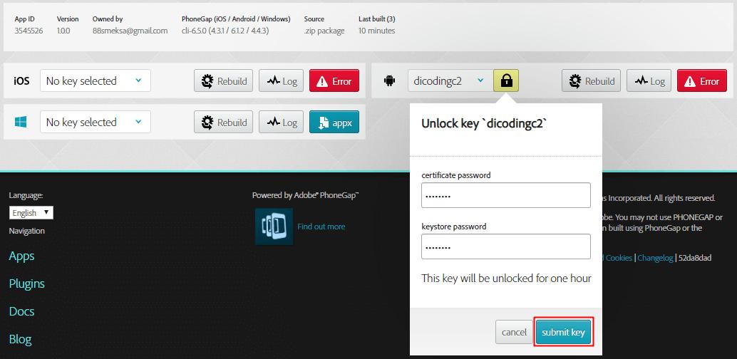 Export APK ke dalam Mode Release dengan Unlock Key