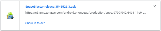 Hasil APK Cara Export Game Construct 2 ke Android