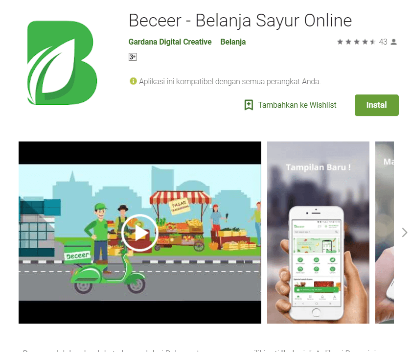 Aplikasi berbasis Flutter