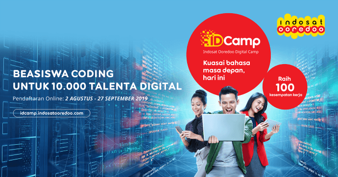 Indosat Ooredoo Digital Camp (IDCamp) Cetak 10.000 Developer Muda Bersertifikasi Global - CodePolitan.com